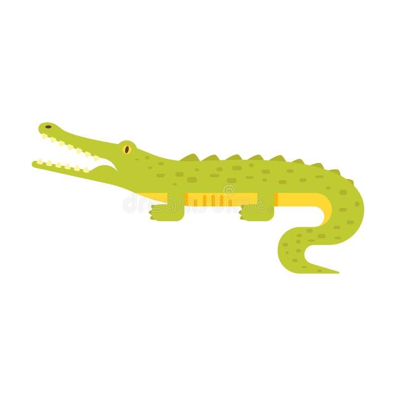 鳄鱼的传染媒介平的样式例证 库存例证
