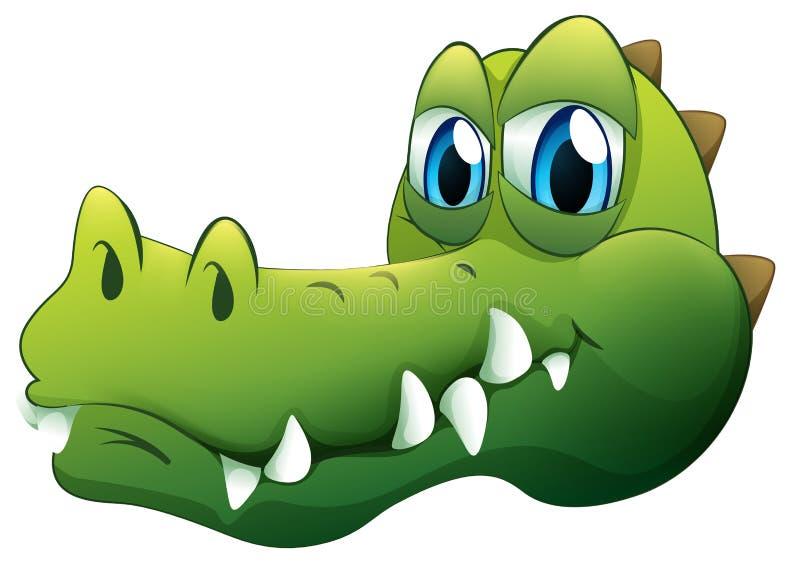 鳄鱼的头 库存例证