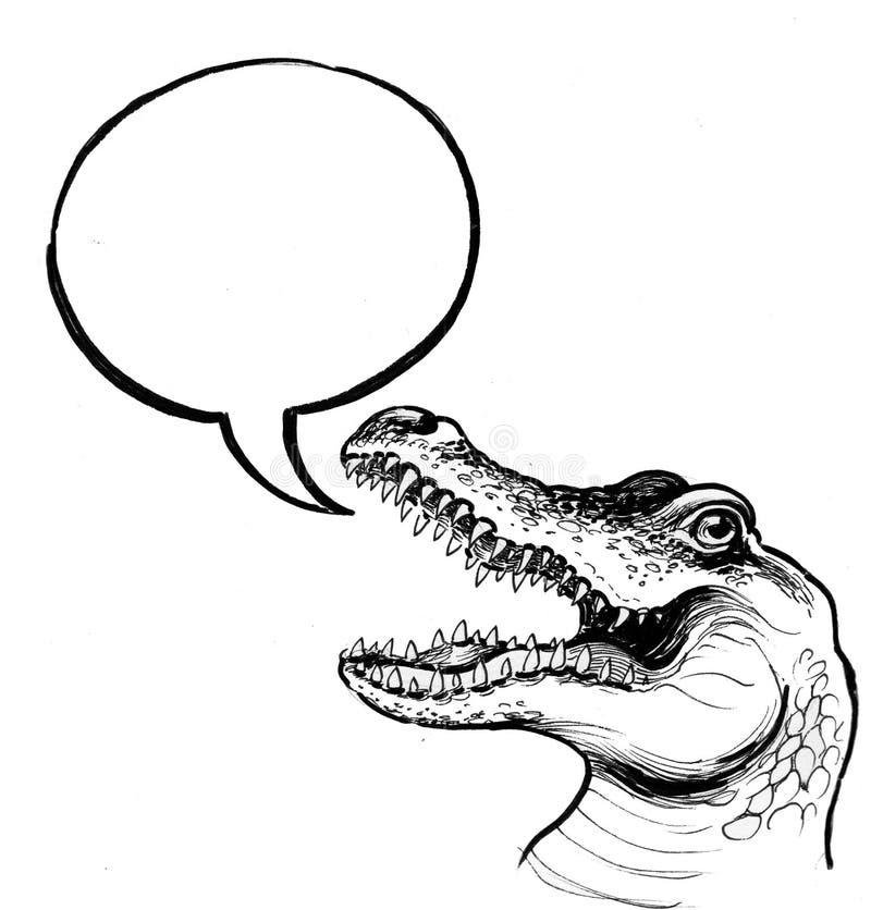 鳄鱼讲话 向量例证