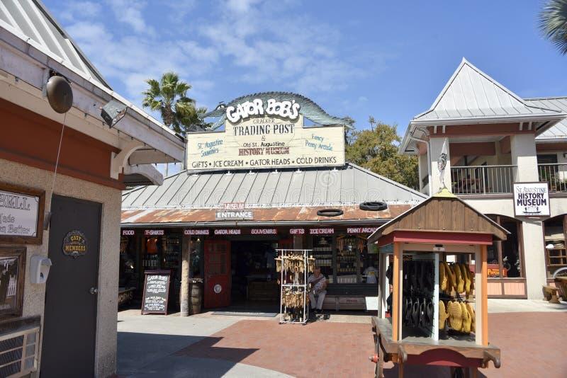 鳄鱼鲍伯的奥尔德敦圣奥斯丁,佛罗里达 库存图片