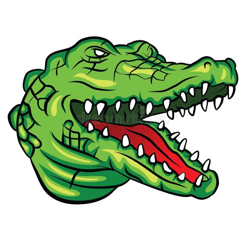 鳄鱼头 库存例证