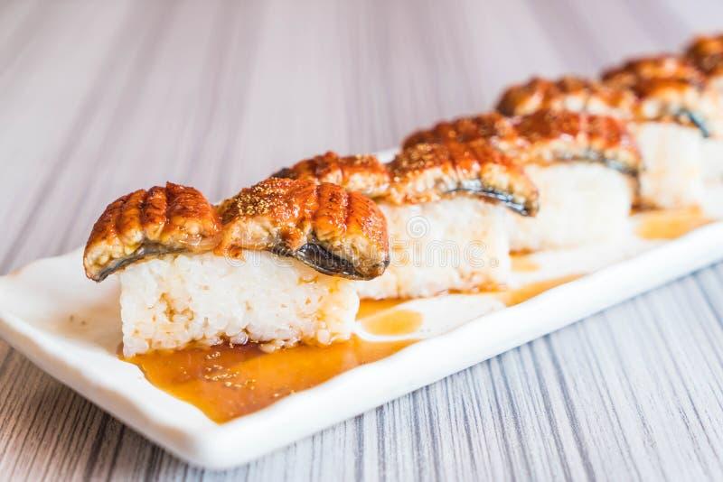 鳗鱼寿司(unagi) 免版税库存照片