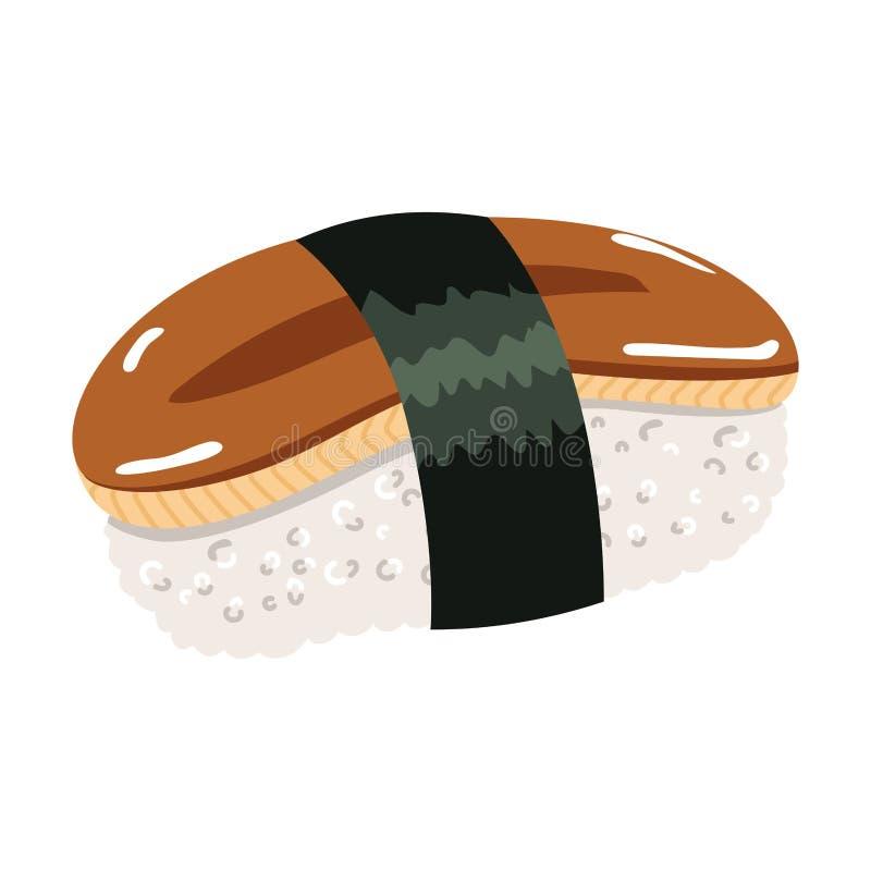 鳗鱼梅基寿司 库存例证