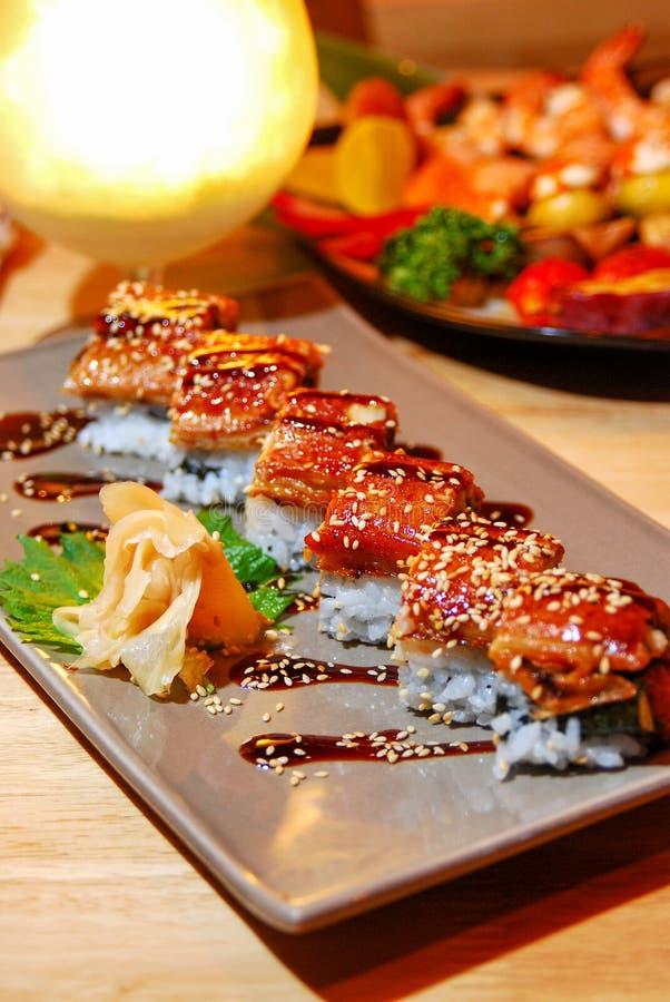 鳗鱼烤用米 库存照片