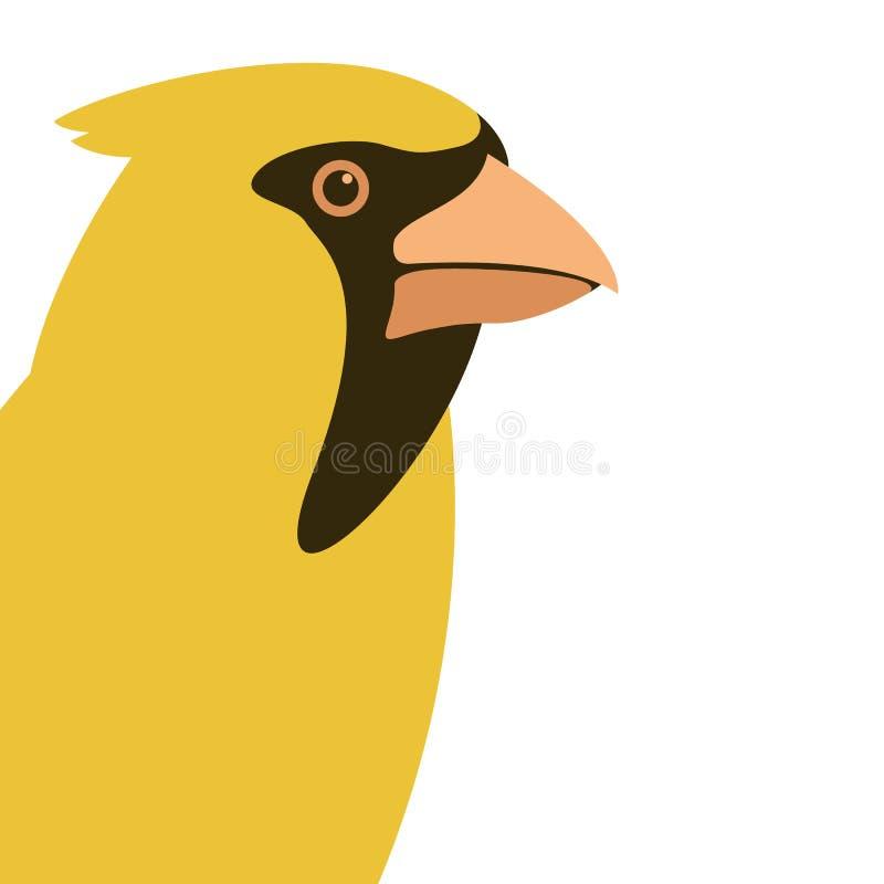 鸟主要顶头传染媒介例证平的样式外形 库存例证