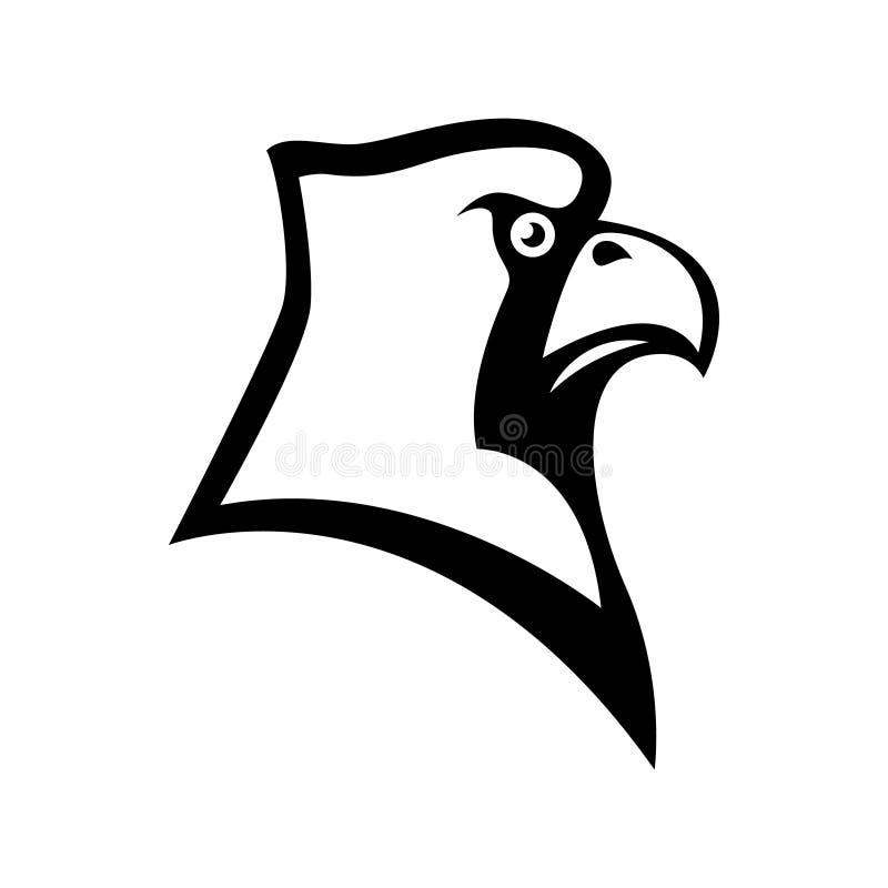 鸟主要顶头标志 设计体育队商标的元素,象征,徽章,吉祥人 库存例证