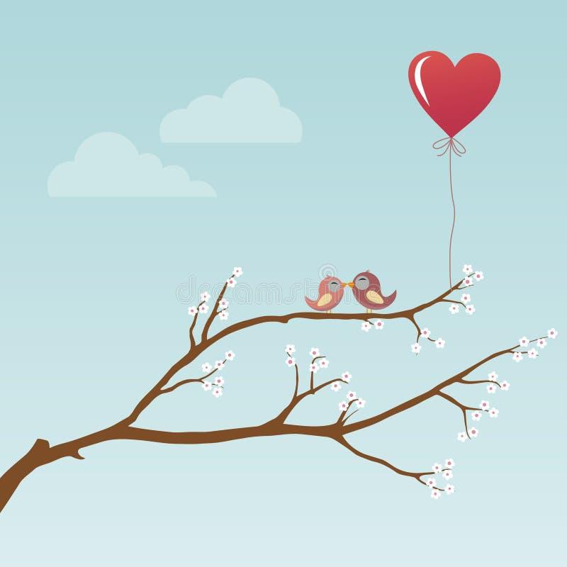 鸟例证爱向量 向量例证