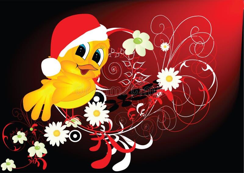 鸟克劳斯喜欢圣诞老人 向量例证