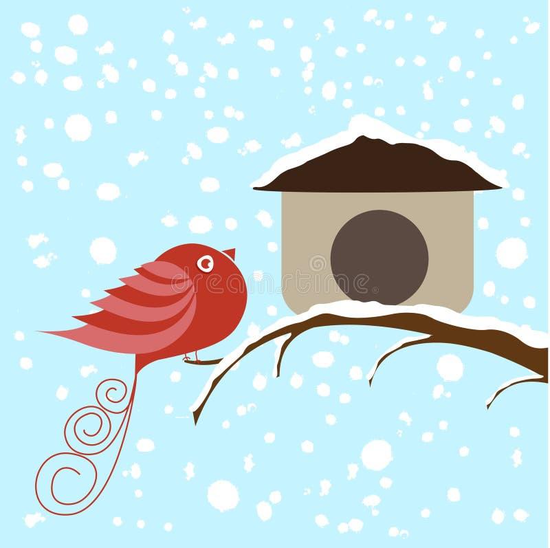鸟冬天 皇族释放例证