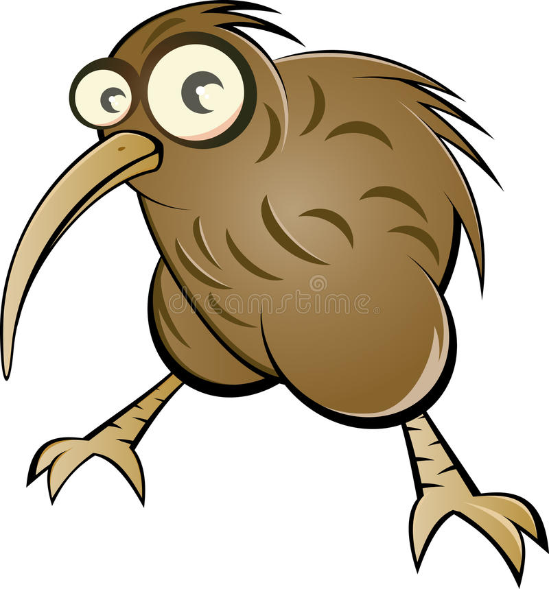 鸟动画片猕猴桃 库存例证
