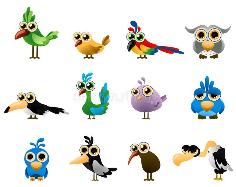 鸟向量 库存例证