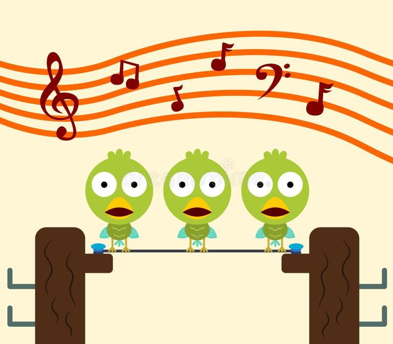 鸟唱诗班 向量例证