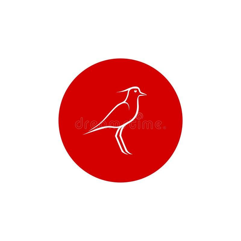 鸟商标象,线概念圈子设计 皇族释放例证