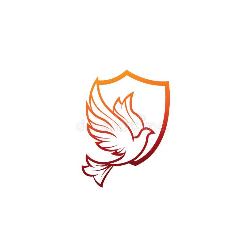 鸟商标-传染媒介商标概念例证 鸟商标 鸠商标 摘要排行商标 传染媒介商标模板 设计要素例证图象向量 Bir 向量例证