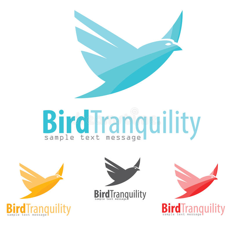 鸟商标 库存例证