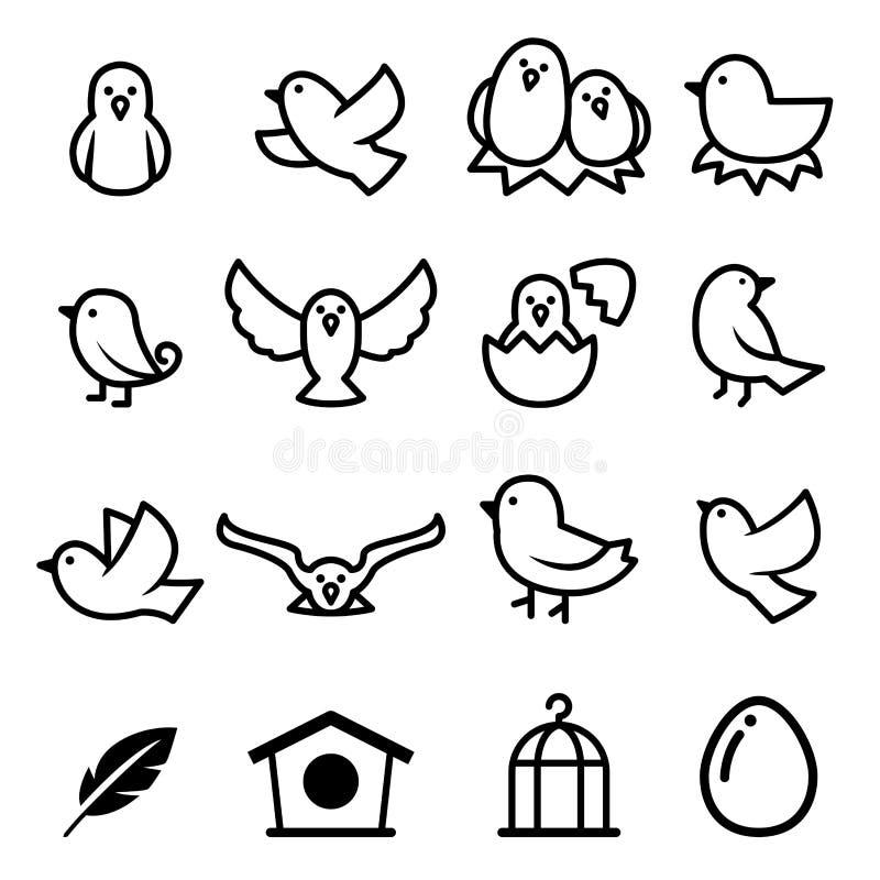 鸟图标 向量例证