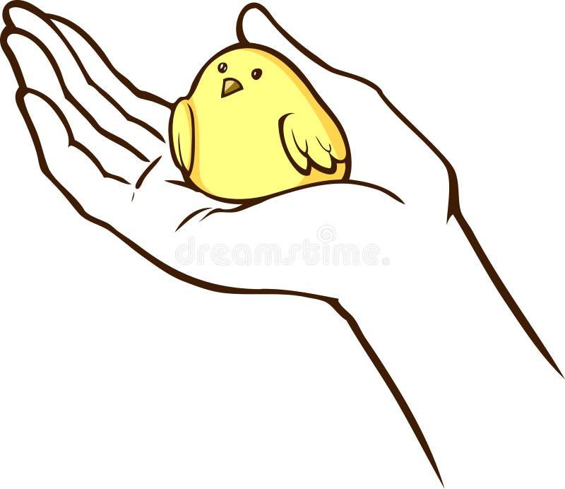 鸟在手中 皇族释放例证
