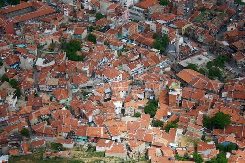 鸟城市眼睛视图 免版税库存照片