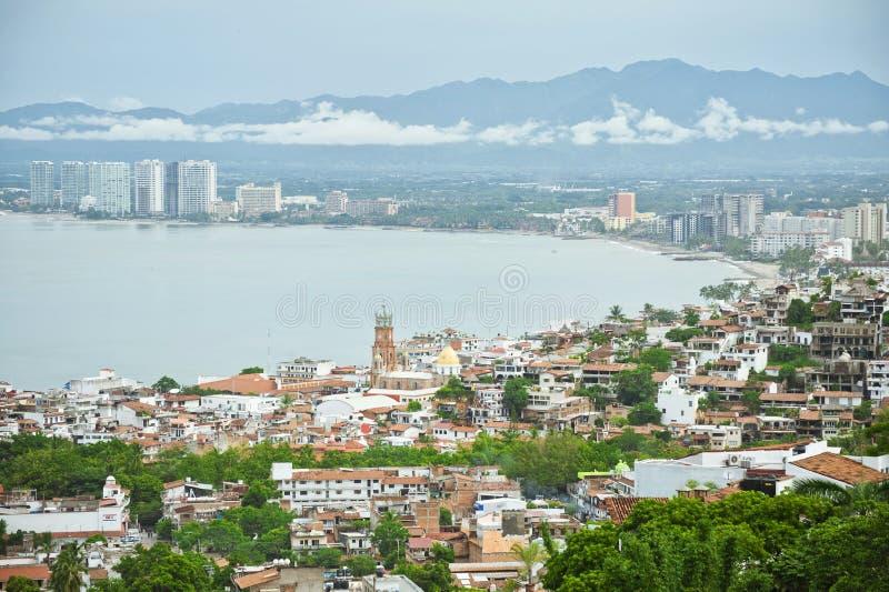 鸟墨西哥Puerto Vallarta视图 库存照片