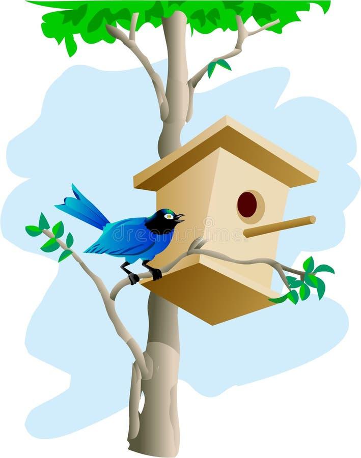 鸟房子结构树 皇族释放例证