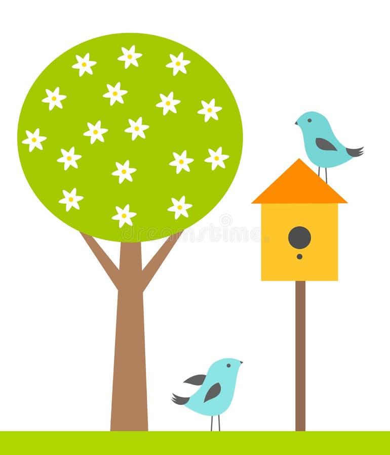 鸟房子 向量例证