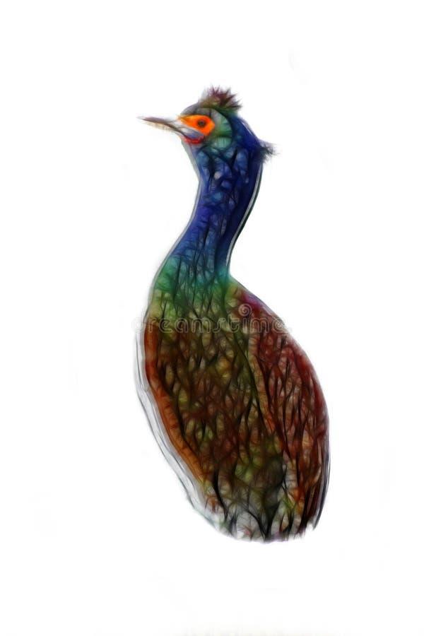 鸟投手,酒壶 典雅的被绘的鸟 库存照片
