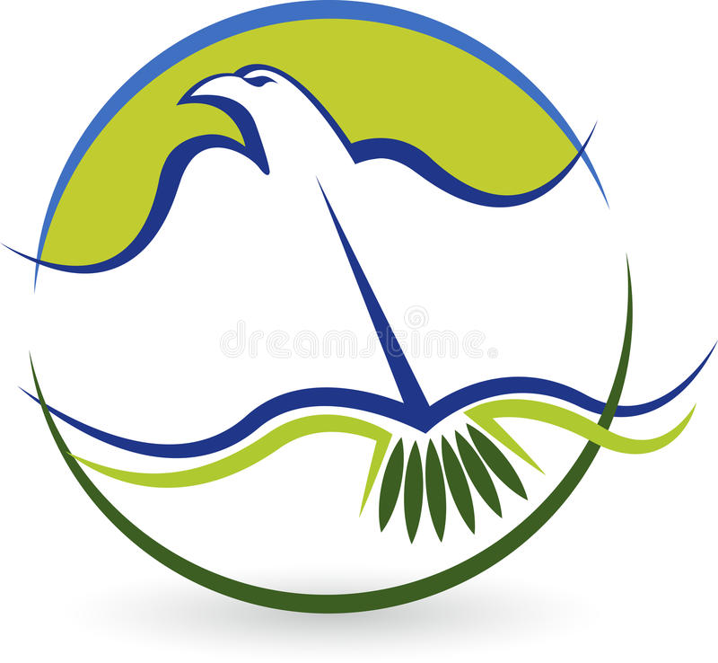 鸟教育商标 皇族释放例证