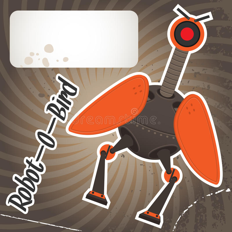 鸟机器人 皇族释放例证
