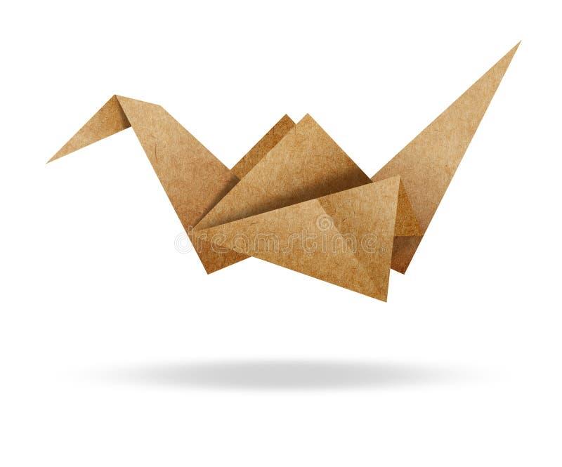 鸟棕色纸板origami纸张白色 皇族释放例证