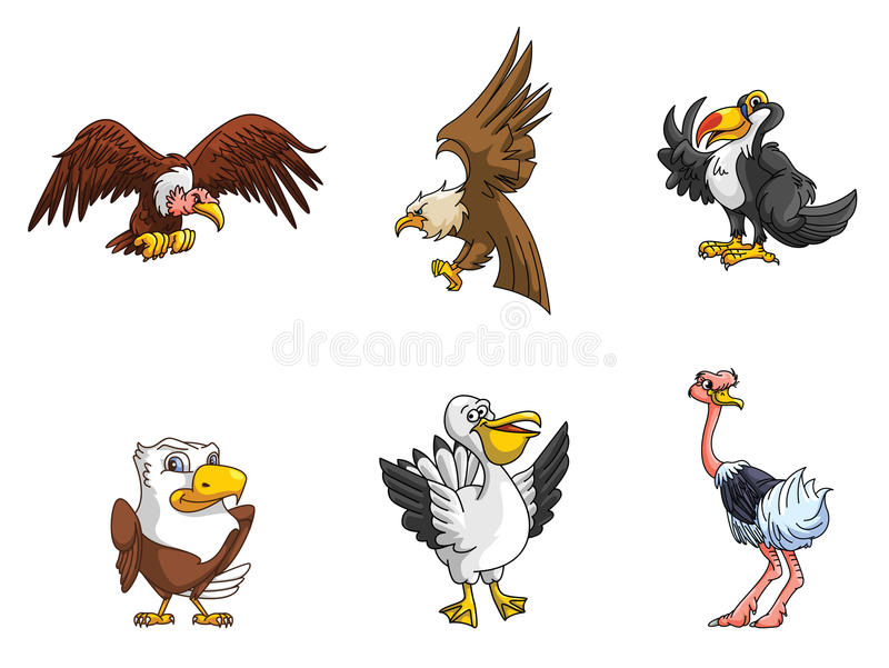 鸟汇集 库存例证