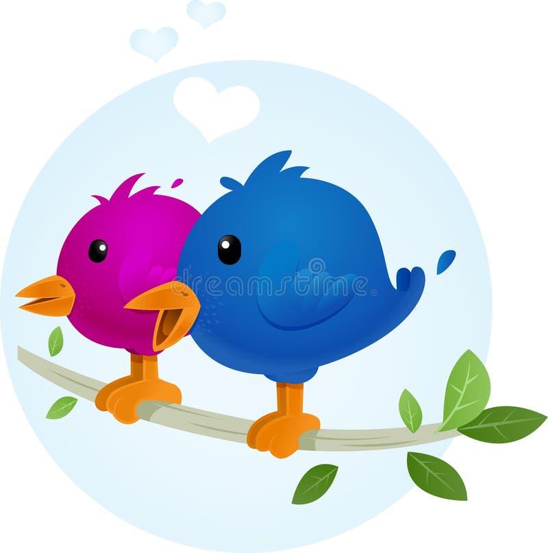 鸟爱 向量例证