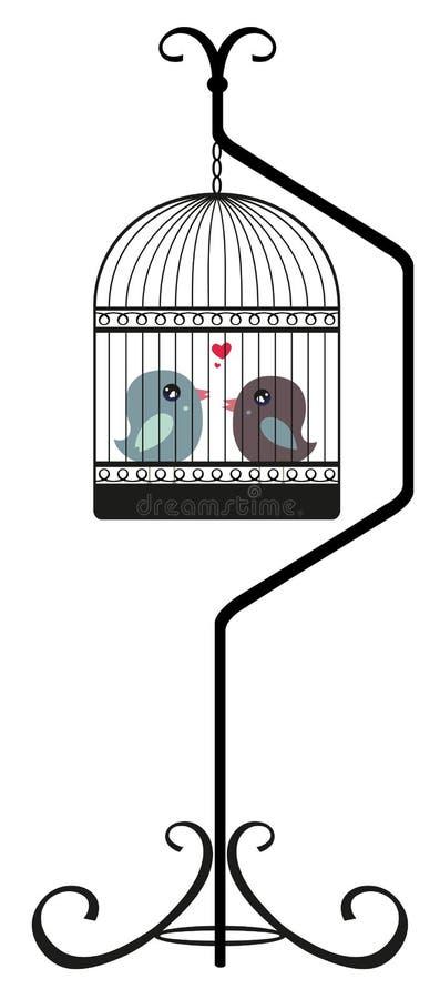 鸟爱 皇族释放例证