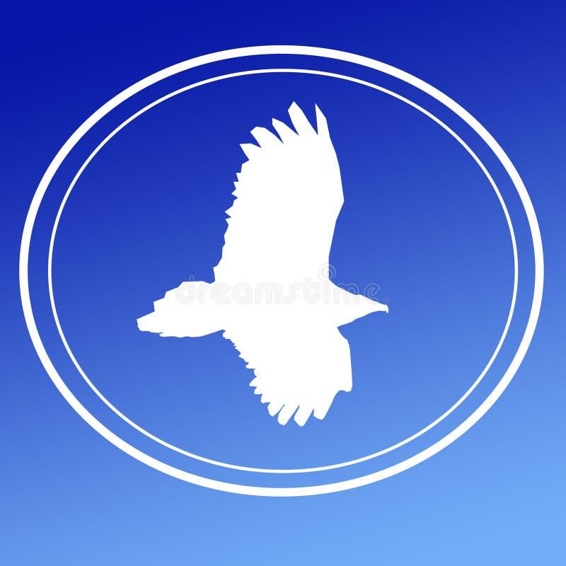 鸟猛禽老鹰雕飞行图象背景商标横幅 库存例证
