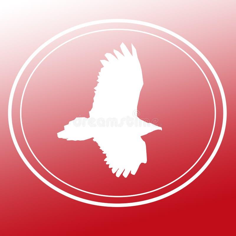 鸟猛禽老鹰雕飞行图象背景商标横幅 皇族释放例证