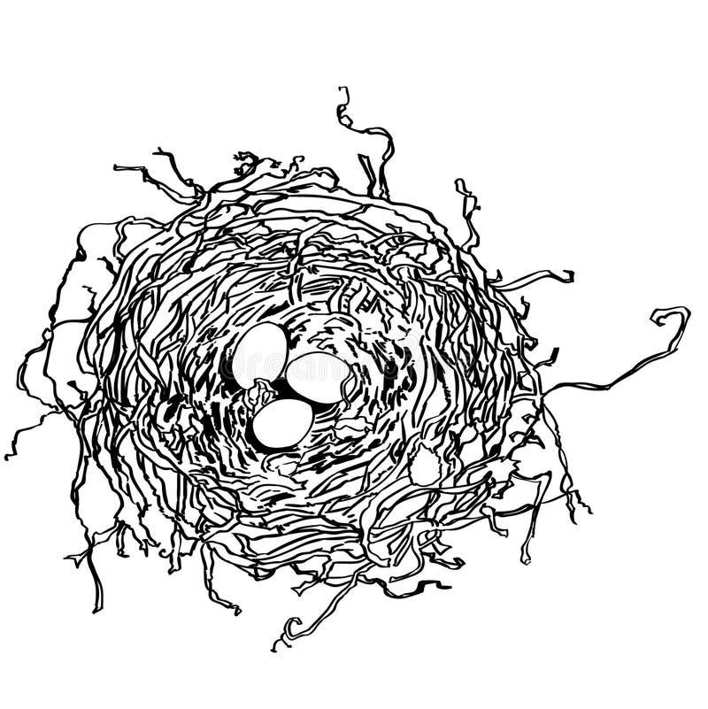 鸟的巢由crafteroks的传染媒介eps例证 皇族释放例证