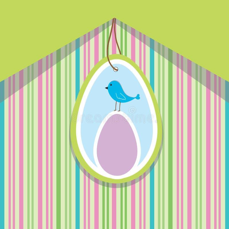 鸟看板卡复活节彩蛋春天 向量例证