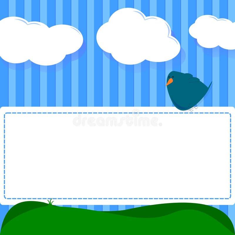 Download 鸟看板卡 向量例证. 插画 包括有 图象, 重新填没, 明信片, 童年, 消息, beautifuler - 22357139