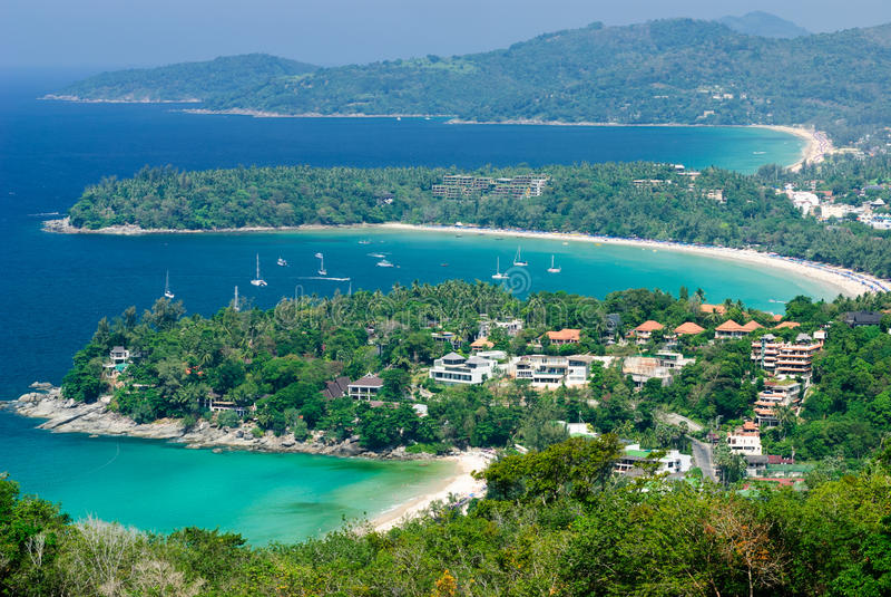 鸟眼睛普吉岛泰国视图 免版税库存图片