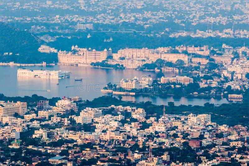 鸟瞰图乌代浦,印度 库存图片