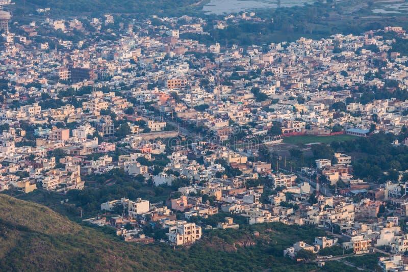 鸟瞰图乌代浦,印度 图库摄影