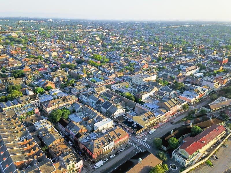 鸟瞰图历史的法国街区在新奥尔良,路易斯安那, u图片