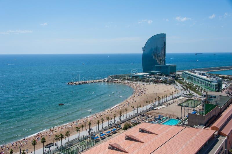 鸟瞰图向巴塞罗那 免版税图库摄影