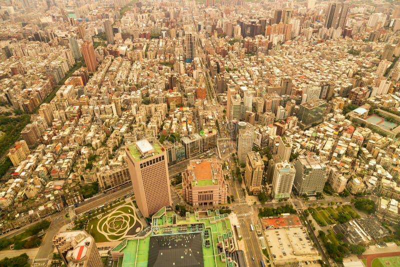 鸟瞰图拥挤城市住所都市地区 库存图片