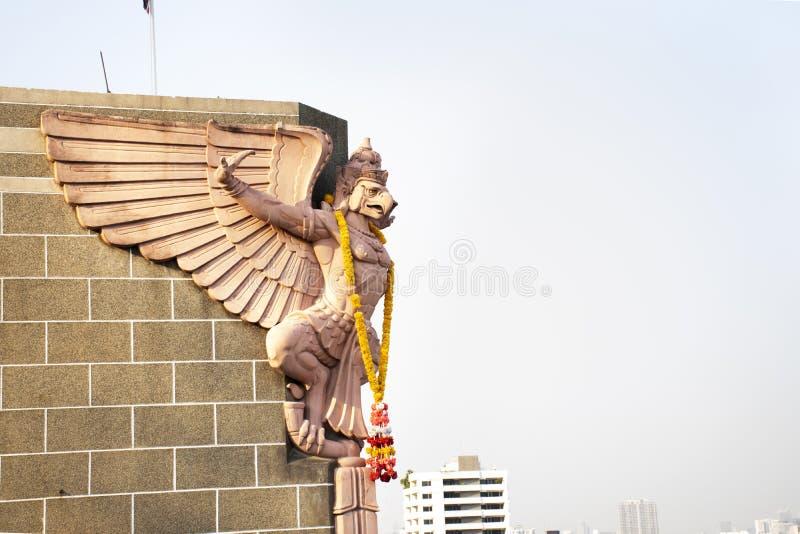 鸟瞰图曼谷市风景和都市风景从盛大邮政大厦的在挽叻县在曼谷,泰国 免版税库存图片
