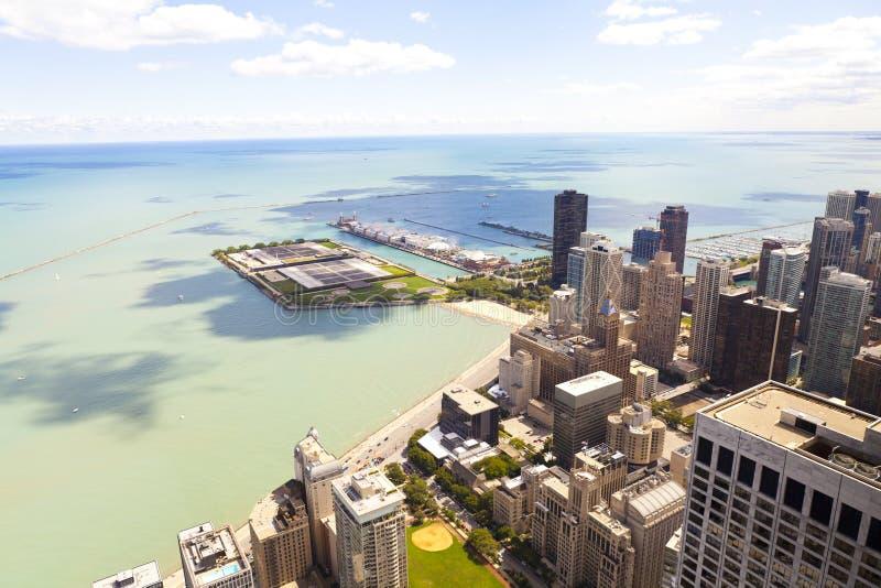 鸟瞰图(街市的芝加哥) 库存图片