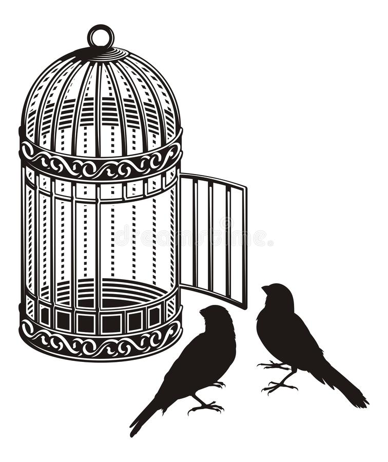 鸟笼 向量例证