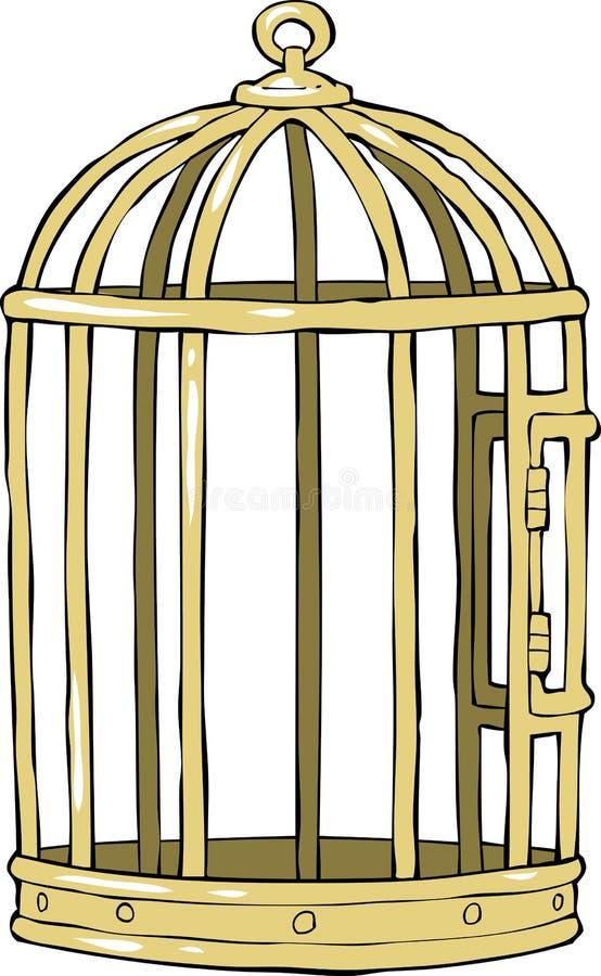 在白色背景的鸟笼