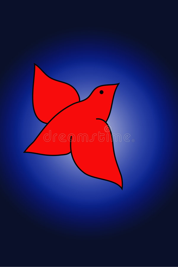 鸟红色 向量例证