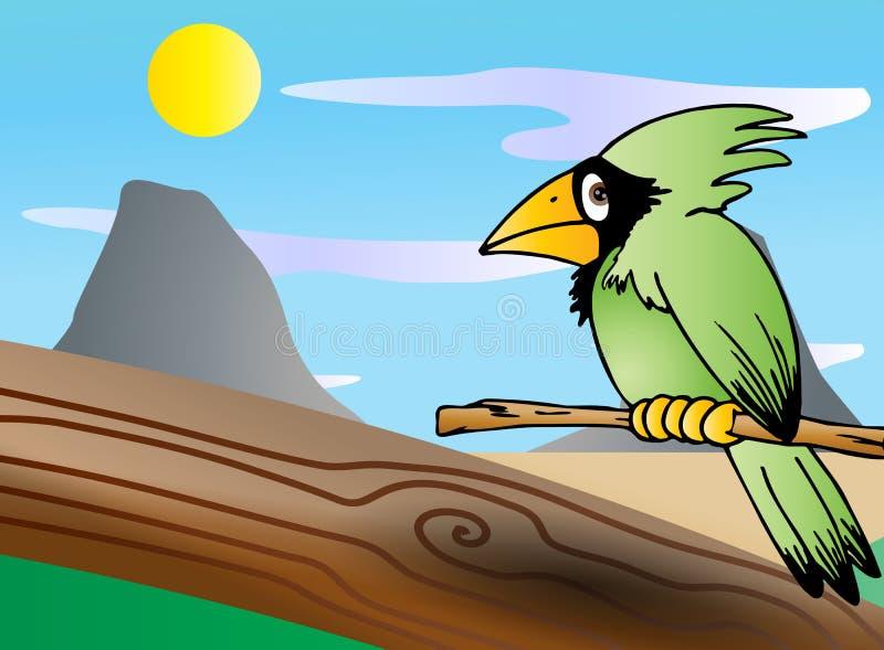 鸟绿色 向量例证