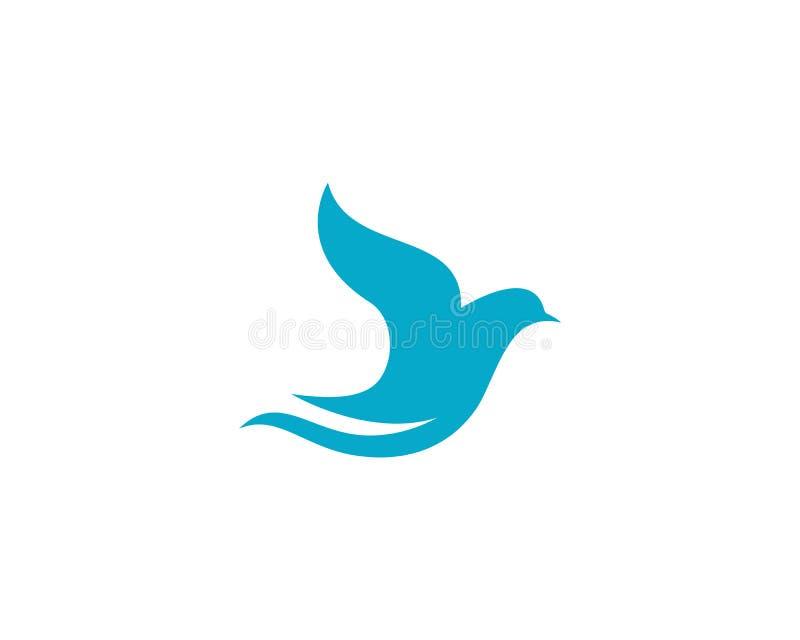 鸟翼鸠商标模板 皇族释放例证